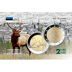Estonie 2021 Finno - Carte commémorative