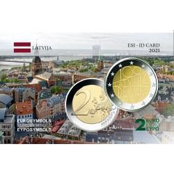 Lettonie 2021 Reconnaissance - Carte commémorative