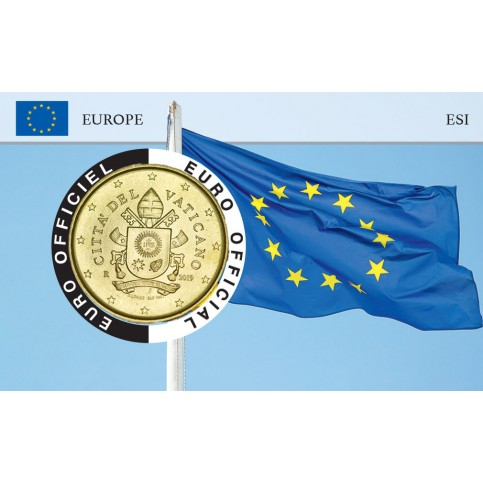 Vatican Coincard - Drapeau Européen