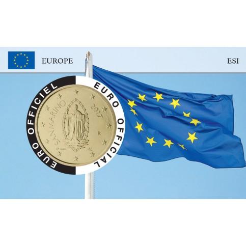Saint Marin Coincard - Drapeau Européen