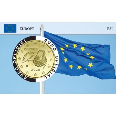 Espagne Coincard - Drapeau Européen
