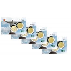 Lot x5 Andorre 2020 Ibéro Américain - Carte commémorative