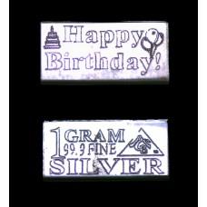 Lingotin Happy Birthday - Argent 999/1000 - 1g