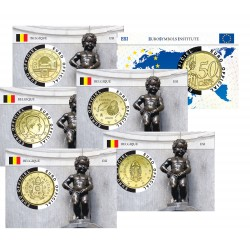 Lot de 5 coincards - Capitale Européenne - Manneken Pis