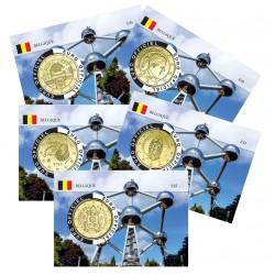 Lot de 5 coincards - Capitale Européenne - Atonium