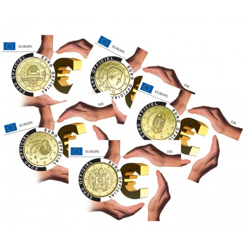 Lot de 5 coincards - Europe