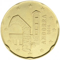 Andorre - 20 centimes d'euro neuve