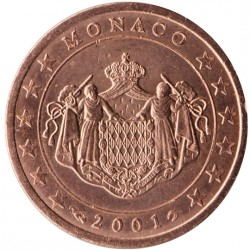 Monaco Prince Rainier 2 centimes