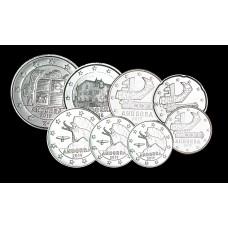 Série euros complète Andorre - Argentée