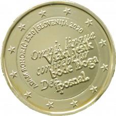 Slovénie 2020 - 2€ commémorative dorée à l'or fin 24 carats