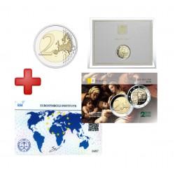 2 euros  Vatican 2020 Raffaello + carte commémorative