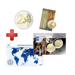 2 euros Saint Marin 2019 Léonard de Vinci + carte commémorative