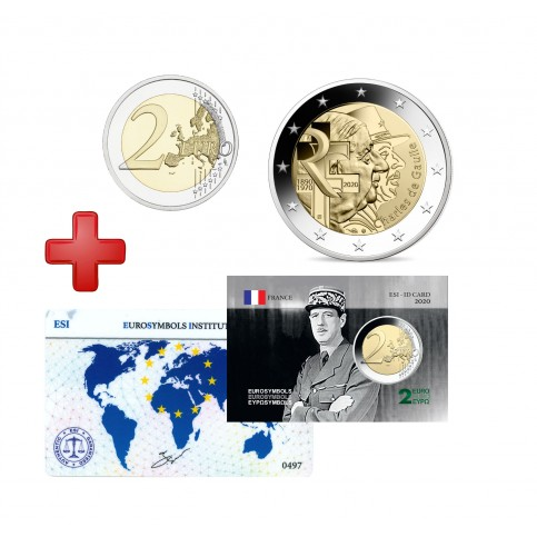 Lot Carte France 2020 -Charles de Gaulle +carte commémorative
