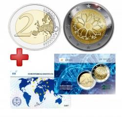2 euros Chypre 2020 + carte commémorative