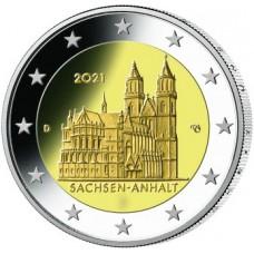Allemagne 2021 - 2 euro commémorative Anhalt Magdebourg