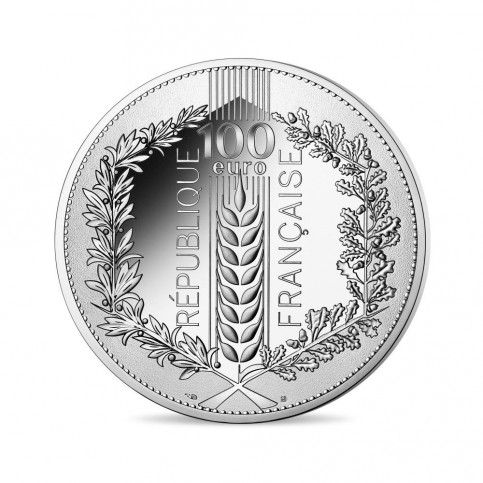 France 2021 - 100 euros argent Le Laurier