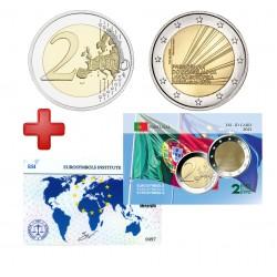 2 euros Portugal 2021 Présidence + carte commémorative