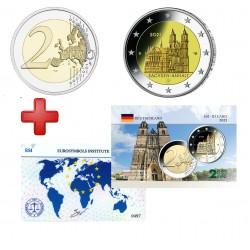 2 euros Allemagne 2021 Sachsen + carte commémorative