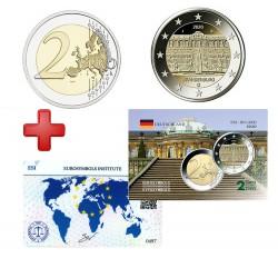 2 euros Allemagne 2020 Brandebourg+ carte commémorative