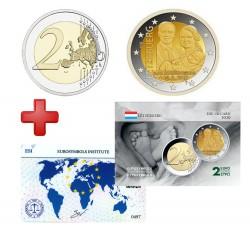 2 euros Luxembourg 2020 Naissance + carte commémorative