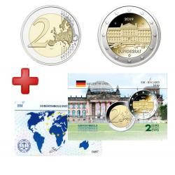 2 euros Allemagne 2019 Bundesrat + carte commémorative