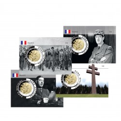 France 2020 DeGaulle - Lot de 4 coincards