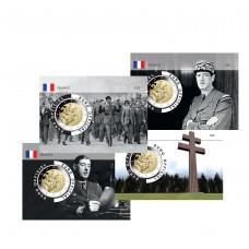 France 2020 DEGAULLE Coincard - Lot 4 Coincards