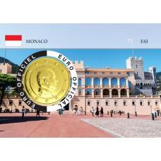 Monaco 2020 Albert de Monaco Coincard dorée - Le Palais