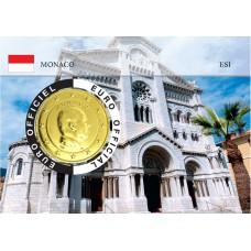 Monaco 2020 Albert de Monaco Coincard dorée - L'église