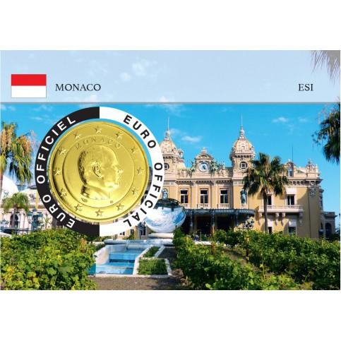 Monaco 2020 Albert de Monaco Coincard dorée - Le Casino