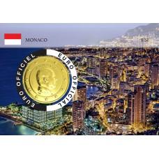 Monaco 2020 Albert de Monaco Coincard dorée - Vue Principauté