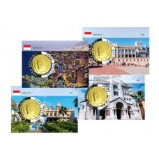Monaco 2020 Albert de Monaco Coincard dorée - Lot de 4 coincards