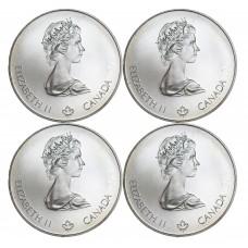Canada 4 Monnaies Argents - Jeux Olympiques 1976