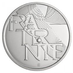France 2013 Fraternité  - 5 euros Argent Les valeurs de la République