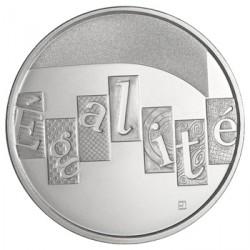 France 2013 Egalité - 5 euros Argent Les valeurs de la République