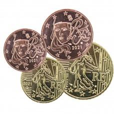Lot 2 pièces euros France 2021