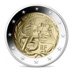 France 2021 - 2 euro commémorative Unicef