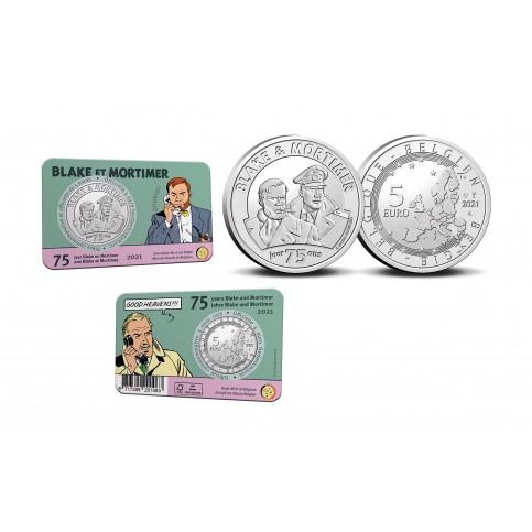 Belgique 2021 - 5 euros Coincard Black et Mortimer