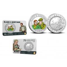 Belgique 2021 - 5 euros couleurs Coincard Black et Mortimer