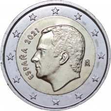 2 euros Espagne Felipe VI 2021