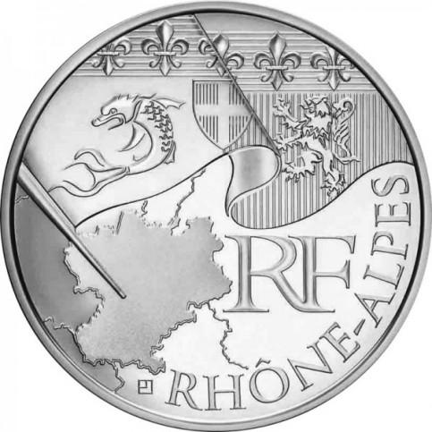 10 Euros des Régions 2010  - Rhône Alpes