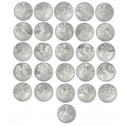 Série complète des 10 euro 27 Régions 2012