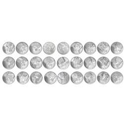 Série complète des 10 Euro argent des Régions 2010