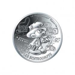 France 2020 - Schtroumpf reporter - 10 euros argent