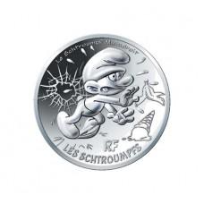 France 2020 - Schtroumpf maladroit - 10 euros argent