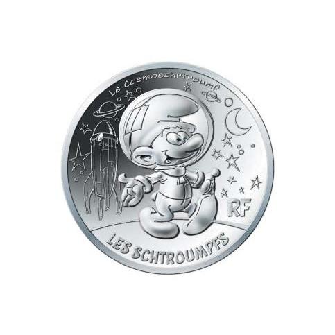 France 2020 - Schtroumpf cosmsonaute - 10 euros argent