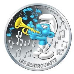 France 2020 - Schtroumpf musicien - 10 euros argent
