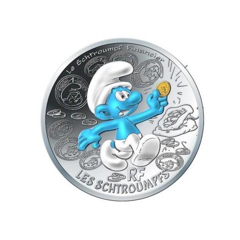 France 2020 - Schtroumpf financier - 10 euros argent