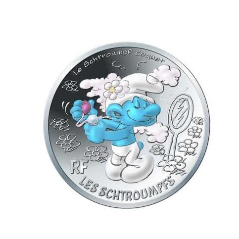 France 2020 - Schtroumpf coquet - 10 euros argent