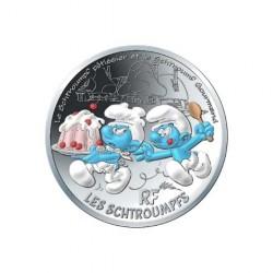 France 2020 - Schtroumpf gourmand - 50 euros argent